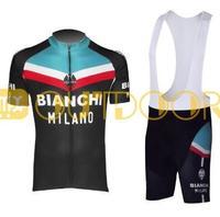 Free Shipping 2013 New Styles Bianchi Black Team Cycling Bike Jersey Shirt +Bib shorts.Man's outdoor sport riding