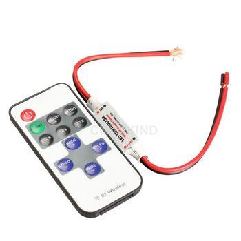 #Cu3 DC 12V 11 Keys RF Remote Controller Mini Dimmer for Led Single Color Strip