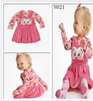 Spring/Autumn Children's Casual Dress /Cute Owl Pattern  Print  Dress Free shipping