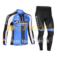 Free Shipping 2013  Black Bike bicycle clothing Team cycling Man's outdoor sport riding Long sleeve Jersey+Bib Pants suit