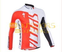 2013 new Styles Free Shipping Hot red  bike bicycle clothing Team cycling Long sleeve Jersey