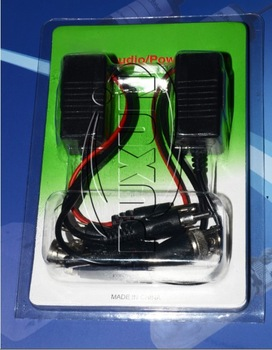 CCTV 10pcs  new CAT5 UTP BNC Passive Video and Power Balun Transceiver transfer, free shippinga AF25