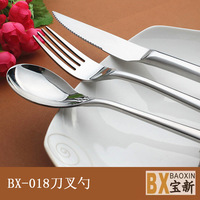 Grp 11 MinOrder $30 Dinner Knife & Dinner Fork & Dinner Spoon & Dessert Spoon Stainless Steel with Round Pattern Dinnerware Set