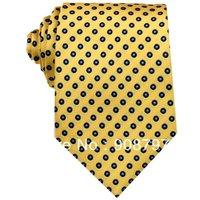 Yellow Navy Polka Dot 3.15'' 100%Silk Classic JS20 Jacquard Man's Tie Necktie