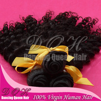 "queen hair products deep curly hair weave Indian virgin hair human extension 4pcs/lot 12""-30"" shedding and tangles free"