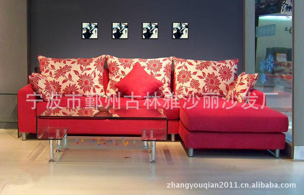 modern furniture designer Red sofa can be customized color combination of high elasticity comfortable sofa IKEA Ningbo Yasha Li(China (Mainland))