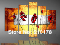 Free Shipping!!5pcs MODERN ABSTRACT HUGE WALL ART OIL PAINTING ON CANVAS FL5-041