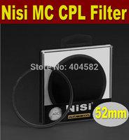 Free shipping 52mm NISI multi-coating ultrathin PRO MC CPL,Circular Polarizing CPL Camera Lens Filter