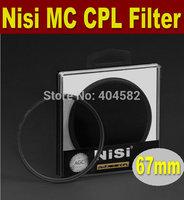 Free shipping 67mm NISI multi-coating ultrathin PRO MC CPL,Circular Polarizing CPL Camera Lens Filter