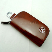 2013 Fashion Men Women's Car Key Bag for Benz Mecedes-Benz with Genuine leather Car Key Holder Key Case Key Ring Free shipping