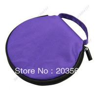 D19+New Home Car Zip Up DVD CD Discs Holder Pocket Storage Case Bag Purple