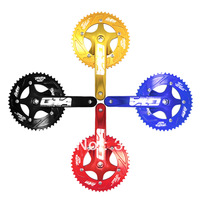 Free Shipping Alufer Road Bike Bicycle Single Speed Crankset 170mm 46T Track Fixed Gear Tool