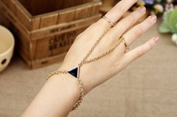 Fashion punk alloy bracelets connected ring Min. order $10 free shipping HeHuanB039