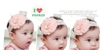 Free shipping lovely flower Princess hairband kids baby hair adorning as children headwear product.
