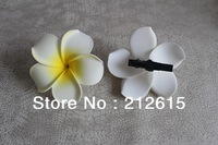 "3.54"" frangipani hair clip accessories made of EVA foam or plumeria flower hair clip=9cm big size!!!"