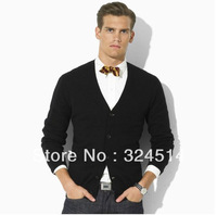 Free Shippig 2013 New Style Brand Sweater For men,Long Sleeve  Solid Casual Sweater Small Horse
