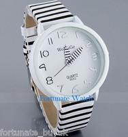 Fashion Womage Brand Zebra Style Leather Strap Women Lasie's Quartz Wrist Watch 1PCS Free Shipping