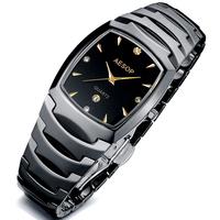 Aesop watch ceramic black quartz fashion watch table male watch men's inveted