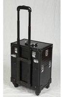 Sunrise professional multi-layer vintage trolley cosmetic box portable super large capacity suitcase