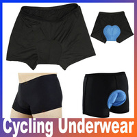 New arrival Men Bicycle Cycling Underwear Gel 3D Padded Bike short Pants Black Hot size M L XL XXL XXXL