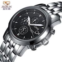 Luxury JSDUN Man Business Dress Casual Wrist Watch Analog 6 Hands Digital Luminous Auto-Mechanical Men's Sports Watch 8990