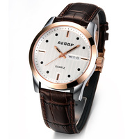 Watch new arrival fashion strap gold male watch fashion table vintage table men's inveted
