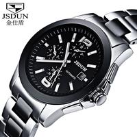 Fully-Automatic Mechanical Fashion Tungsten Steel Ceramic Mens Sports Wrist Watch Vintage Women Dress Party Clock Watch  8730