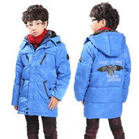 Free shipping 2013 child down coat child winter coat fashion children medium-long ploughboys snow winter jacket lot down parka