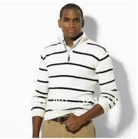 DropShip 2013 New Style Brand Sweater For men,Long Sleeve  Pullovers Turtleneck Strip Casual Sweater Small Horse