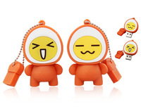 Free Shipping Smile Face USB Flash Drive 100% Full Capacity 4GB 8GB 16GB 32GB