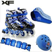 Virility skatse child set skating shoes inline roller skates full set of skate shoes child