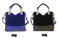 HOT! Bags 2013 Personality Rivet Patchwork Shoulder bag Women's Handbag