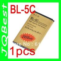 2450mah Genuine Gold Golden BL-5C 5C BL5C Battery For Nokia 1100 3100 6600 6230 Batterie Bateria ACCU AKKU PIL