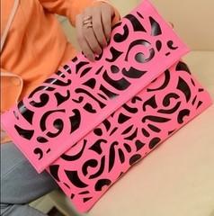 2013 cutout envelope bag fashion shoulder bag neon bag(China (Mainland))