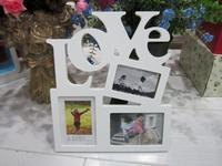 Desktop letter box love photo frame live photo frame decoration box decoration picture frame white combo