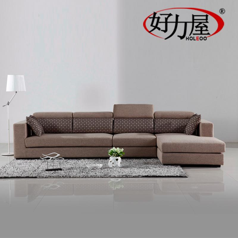 modern furniture designer Good Rite simple fashion comfortable cotton linen fabric corner sofa combination of new AMT-9028 #(China (Mainland))
