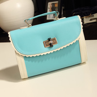 2013 summer candy color block messenger bag handbag messenger bag female bags new arrival