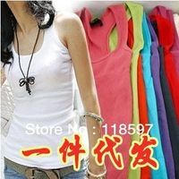 Free shipping Fashion all-match self-cultivation multicolor bottoming shirt blouse coarse thread ladies I-shaped vest women vest