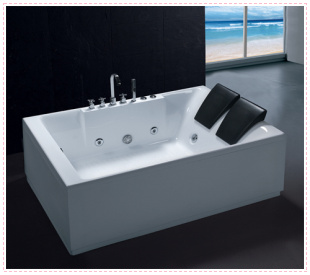 2012 massage bathtub bubble bath acrylic 1.8 meters luxury double bathtub acrylic