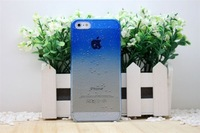 Hot Selling PC Unltr-thin Water Droplets Cell Phone Case For Iphone 5 Hard Back Cover Add Free Gift