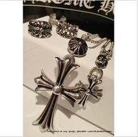 Min.order $15 (mix order)2013 Exquisite cross pendant necklaces for women,Long antique silver plated sweater necklace chain N417