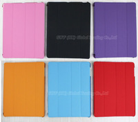 Case Back Cover For Apple iPad 2 3, 4 Slim PU Leather Quadruple Fold Stand Smart Case Cover Retina Case 6 Colors Free Shipping