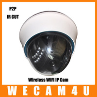 Free Shipping Ethernet POE Wireless WiFi Dual Audio IR Night Vision CCTV Security Surveillance Webcam Network IP Camera