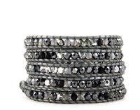 New vintage style friendship weaving leather five wrap bracelet african jewelry crystal beads handmade bracelet CL-118