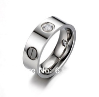 Elegant New Designer Fashion Dia Monds LOVE RING,Platinum Plated Metal With Clearly Stones,Vintage Formal Ring For Pretty Womens