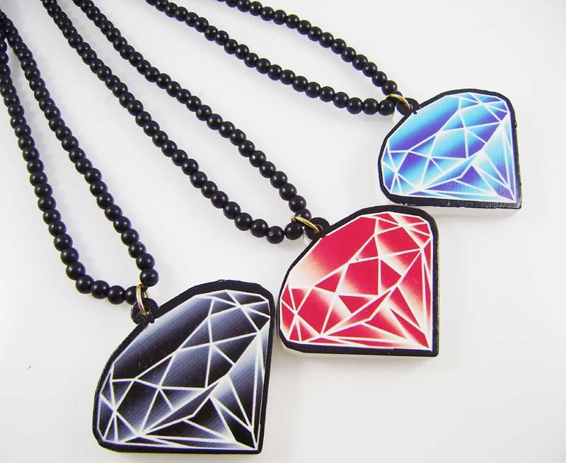 Blue Diamond Hip Hop Jewelry Hip Hop Jewelry Simulated