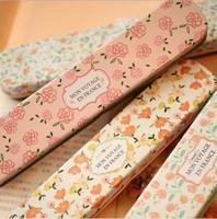 F30-63 New fashion hot spring flowers designs Tin Pencil case / Pen box