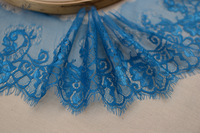 (3M/piece & width 15CM/5.9'' ) Free Shipping LT113 Handmade DIY Decorative Gorgeous Nylon BLUE Eyelash Lace Trim