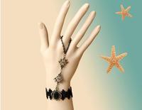 Free shipping / Jewelleries Vampire gothic wriststrap bracelet black lace fashion imitation jewelry produce