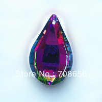 100pcs 50MM MULTICOLOURED  LUTE-SHAPE CRYSTAL CHANDELIER DROP PRISM